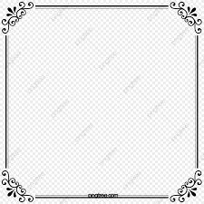 無料ダウンロードのための黒の模様のボーダーズ素材 枠 柄飾り 矩形