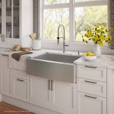 stainless farm sink. Simple Sink KRAUS Kitchen Combo With 30 Inch Single Bowl 16 Gauge Stainless Steel  Farmhouse Sink And Throughout Farm