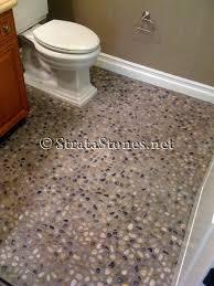 polished natural mix pebble tile at s