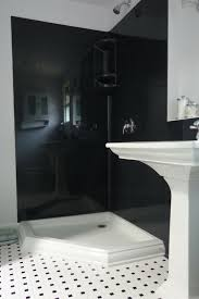 stone solid surface wall panels in a black color