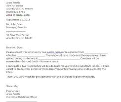 Two Weeks Notice 05 Resignation Letter How To Write A