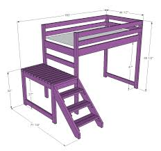 diy loft bed with stairs free diy bunk bed plans with stairs