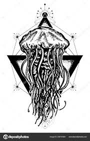 мистический символ приключений мечты глубокого моря творческий