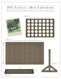 Wooden Game Plans DIY Backyard Game FourinaRow The Home Depot 18