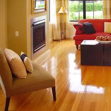 shiny hardwood floors polished look