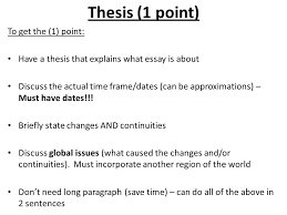 continuities and change over time essay a way to approach the  4 thesis