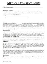 Medical Forms Templates 7 Medical Consent Forms For Everyone Printable Medical Forms