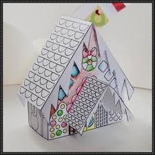 Christmas Gingerbread House Free Paper Model Download