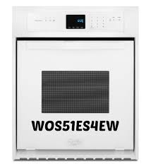 whirlpool 24 inch single wall oven self cleaning system model wos51es4ew