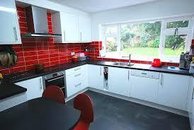 Black And Red Kitchen Designs Fascinating Kitchen Black Red Ideas
