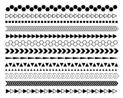 Border Black And White Geometric Digital Borders Black And White Borders Modern