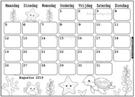 Kleurplaat Kalender Annekoendigitaal