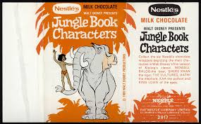 cc uk nestle s jungle book characters hathi the elephant candy chocolate bar wrapper late 60 s early 70 s