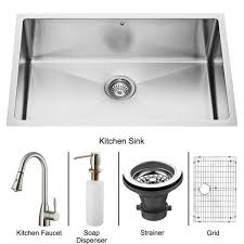 Kitchen  Stainless Steel Sink Enameled Cast Iron Kitchen Sink 30 Inch Drop In Kitchen Sink