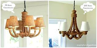 rope chandelier pottery barn diy rope chandelier more four pottery barn rope chandelier homes pottery barn