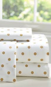 white and gold polka dot sheets. Fine Polka Sophisticated White Duvet With Playful Gold Metallic Polka Dotted Sheets In White And Gold Polka Dot Sheets K