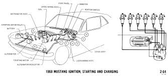 mustang wiring diagrams and vacuum schematics average joe 1968 mustang wiring diagram ignition starting charging 2
