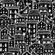 dark vectors wallpaper design e photostock vector dark seamless pattern with houses doodle house vector