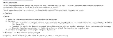 How To Conduct An Informational Interview Hello I Am Asked To Do This Interview For A Projec Chegg Com