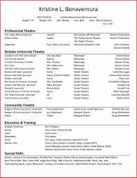 Theater Resume Template Elegant Actor Cover Letters Front Office