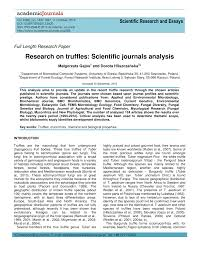 research on truffles scientific journals analysis pdf  research on truffles scientific journals analysis pdf available