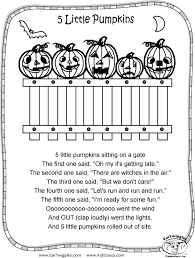 five little pumpkins coloring book coloring pages
