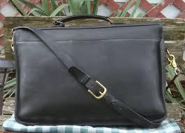clearance larger image ing coach vintage messenger cross briefcase black leather laptop 57fb0 8e2