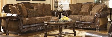 Living Room Set Ashley Furniture Buy Ashley Furniture 6310038 6310035 Set Fresco Durablend Antique