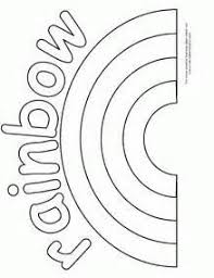 Small Picture Nature coloring page for kids with rainbow printable free