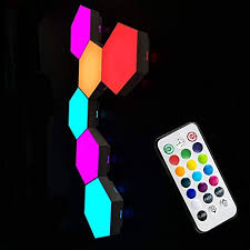 Tehoi Quantum Light Hexagonal Wall Light Touch ... - Amazon.com