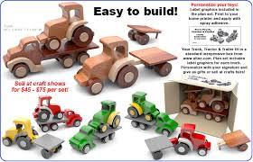 easy basics truck tractor trailer wood toy scroll saw plan set