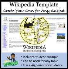 Wikipedia Create Wikipedia Page Create Your Own For Any Subject Word Template