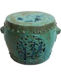 turquoise garden stool. Simple Garden Turquoise Ceramic Garden Stool On E