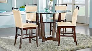 counter height dining chairs with arms astonish ciara espresso 5 pc set room sets decorating ideas