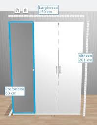 ikea pax wardrobe white and mirror doors image 1