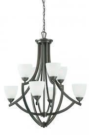 modern metal bronze chandelier