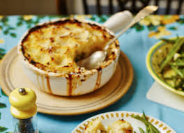 fish pie with celeriac mash topping