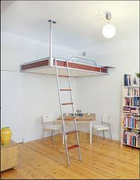 Floating loft bed Instructions Space Saving And Loft Bed For Kids And Adults Loft Bed Concept Ceiling Pinterest Space Saving And Loft Bed For Kids And Adults Loft Bed Concept