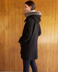 Comptoir Des Cotonniers Size Chart Hooded Coat Noir Gustin Comptoir Des Cotonniers