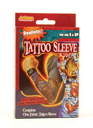 Adults Or Kids Realistic Fabric Tattoo Sleeve Fancy Dress Punk Arm Accessory