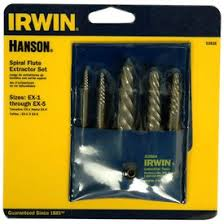 irwin bolt extractor. hanson by irwin 5-pc. spiral screw extractor set bolt