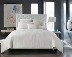 hotel collection bedding bath inspiration for a contemporary bedroom remodel in new york