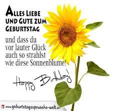 Sonnenblume Geburtstagssprüche Geburtstagssprüche Welt