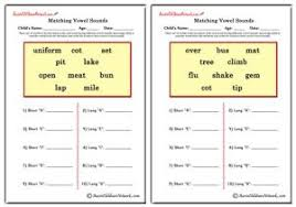 Use this short vowel worksheet to help your budding reader identify short vowel sounds. Phonics Worksheets Aussie Childcare Network