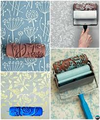 diy wall painting ideas patterned roller wall painting instruction wall painting ideas techniques tutorials diy interior diy wall painting ideas