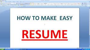 Make A Resume On Microsoft Word How To Create Resume Format In Microsoft Word Free Resume Templates