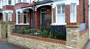 Small Picture victorian front garden design london stock brick wall and rail