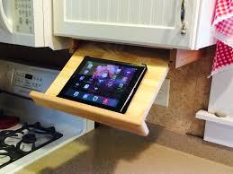 Kitchen Tablet Holder Under Cabinet Ipad Cookbook Holder