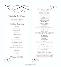 Wedding Program Ideas Templates Braxextras Co