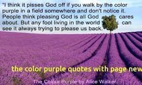 Color Purple Quotes Adorable The Color Purple Book Page Count With The Color Purple Quotes With